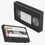 Cassette Tape e VHS cassette 3d model