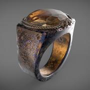 Dragon Eye Ring (HQ) 3d model