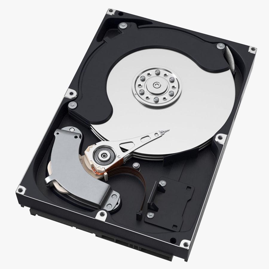 电脑硬盘驱动器的打开和关闭 royalty-free 3d model - Preview no. 2