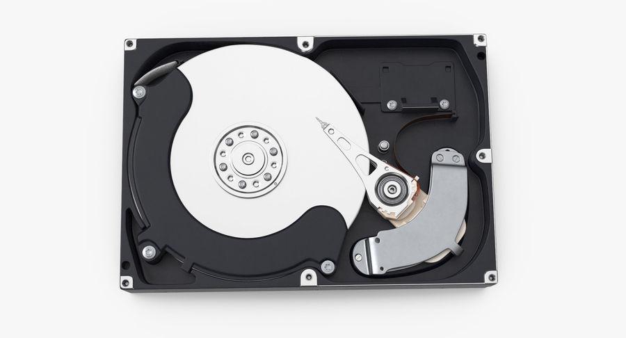 电脑硬盘驱动器的打开和关闭 royalty-free 3d model - Preview no. 15