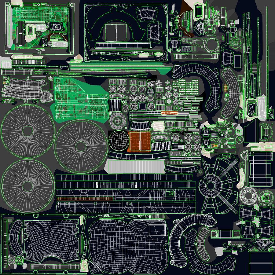 电脑硬盘驱动器的打开和关闭 royalty-free 3d model - Preview no. 33