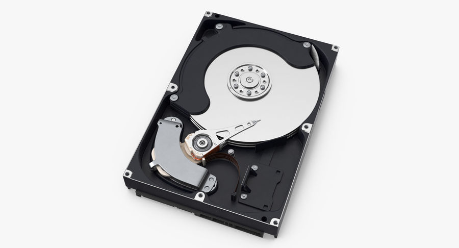 电脑硬盘驱动器的打开和关闭 royalty-free 3d model - Preview no. 4
