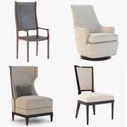 High back chair mixed collection 1 3d model