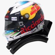 Daniel Ricciardo 2017 Racing helm 3d model