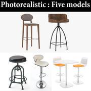 Tabouret Photoréaliste Pour Restaurant Collection 2 3d model