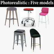 Tabouret Photoréaliste Pour Restaurant Collection 9 3d model