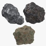 3 Meteorites 3d model