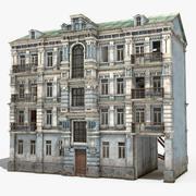 Casa de la ciudad abandonada modelo 3d