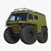 Voiture des marais 3d model