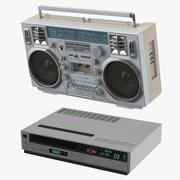 Boombox和VCR播放器 3d model