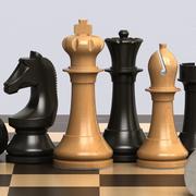 Schachspiel solide 3d model