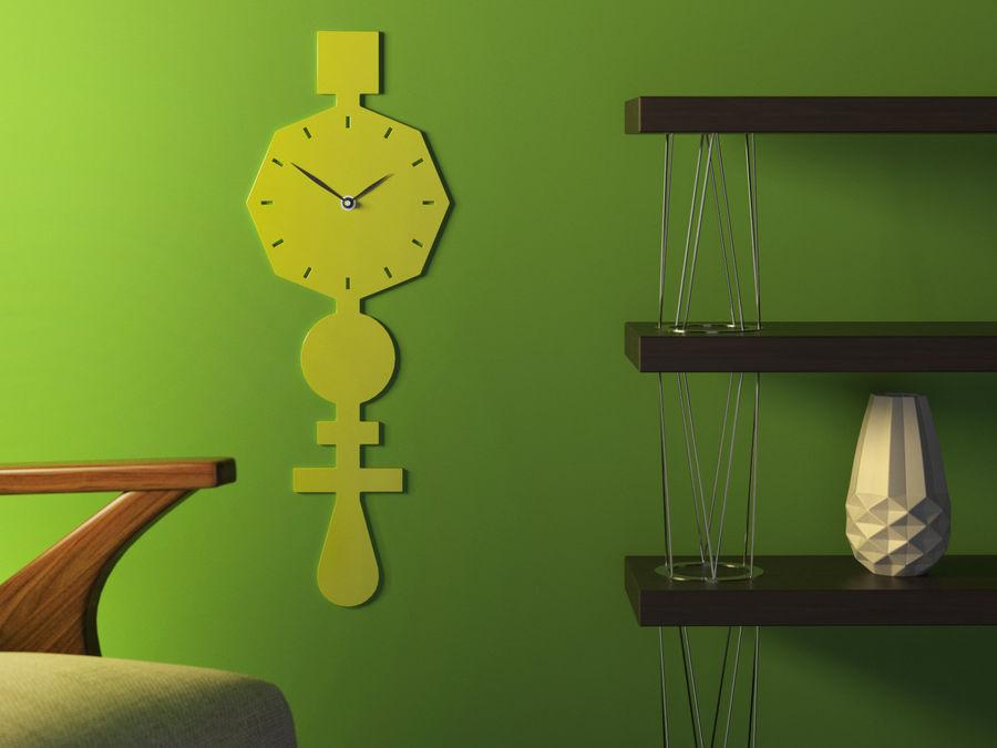 Codice Clock Kireç Yeşili royalty-free 3d model - Preview no. 1
