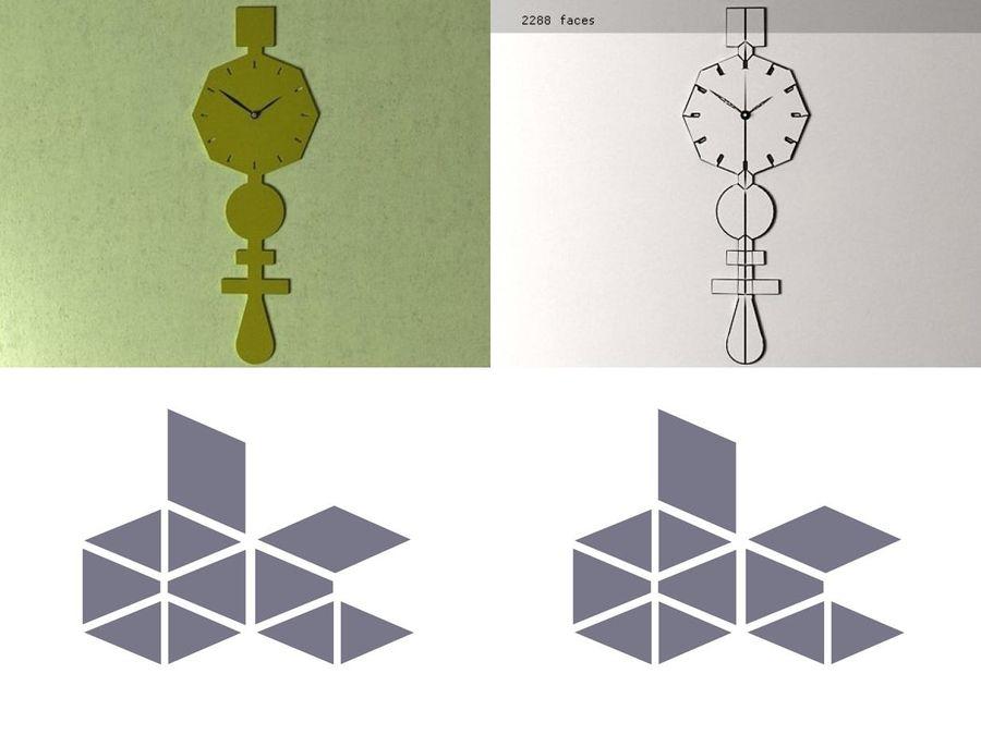 Codice Clock Kireç Yeşili royalty-free 3d model - Preview no. 2