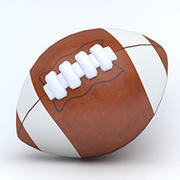American Football ball 3d model