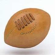Ballon de football américain (2) 3d model
