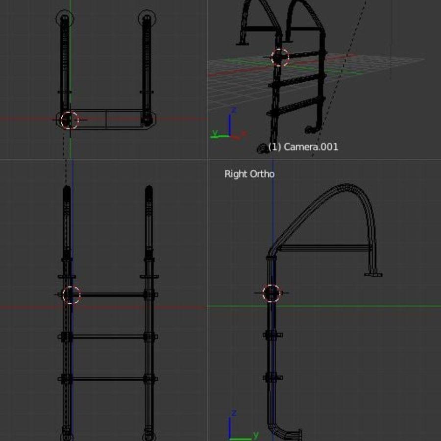 Escalera de piscina royalty-free modelo 3d - Preview no. 5