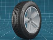 Car tire scratches_05 3d model