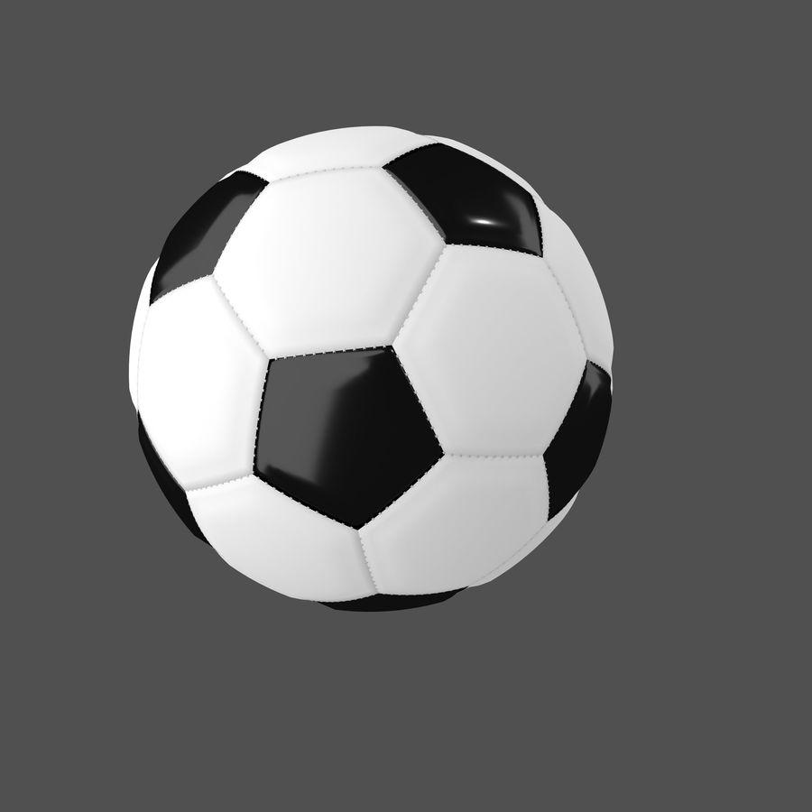 piłka nożna lub piłka nożna royalty-free 3d model - Preview no. 5