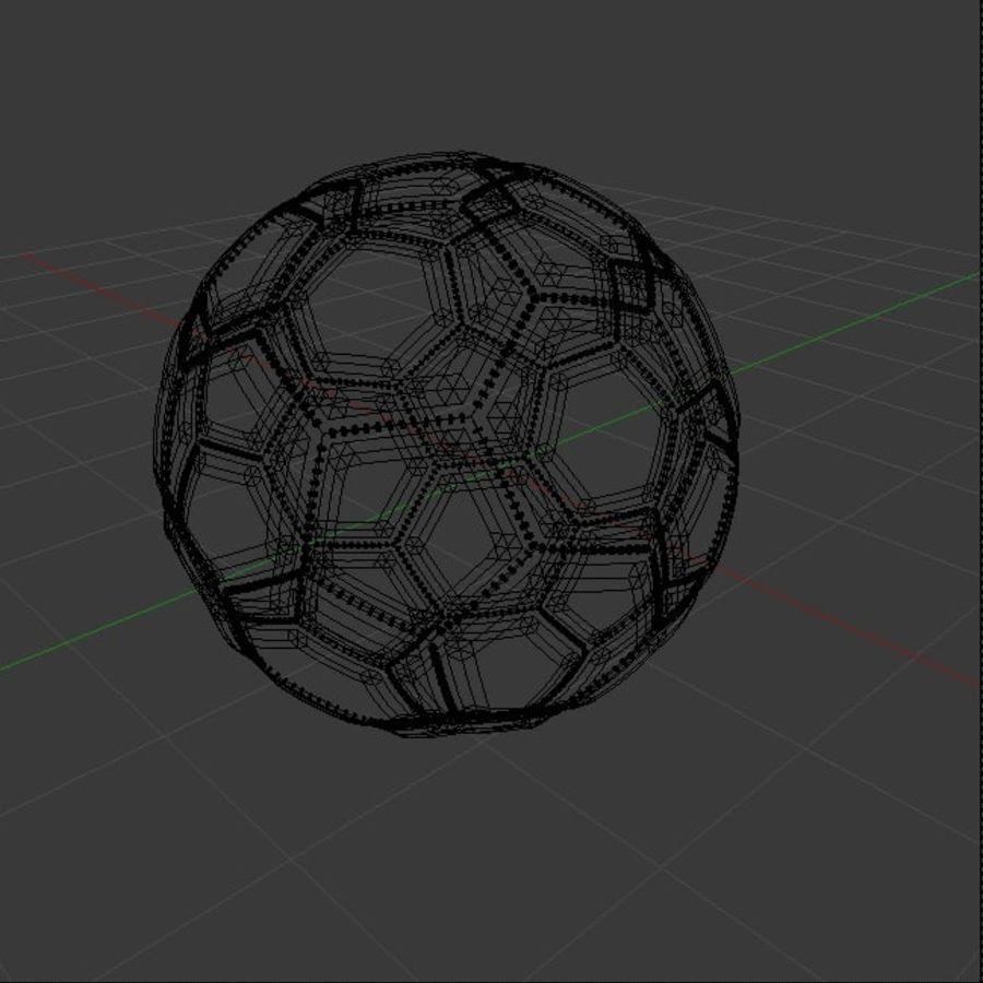 piłka nożna lub piłka nożna royalty-free 3d model - Preview no. 4