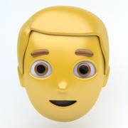 MAN emoji ansikte 3d model