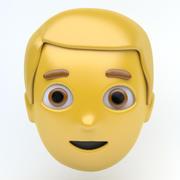 MAN emoji face 3d model