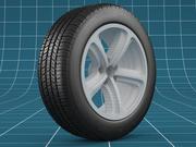 Car tire 01 3d model