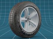 Car tire dirt 04 3d model