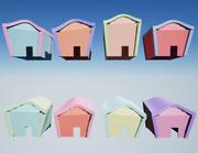 Pastel Houses 3d model