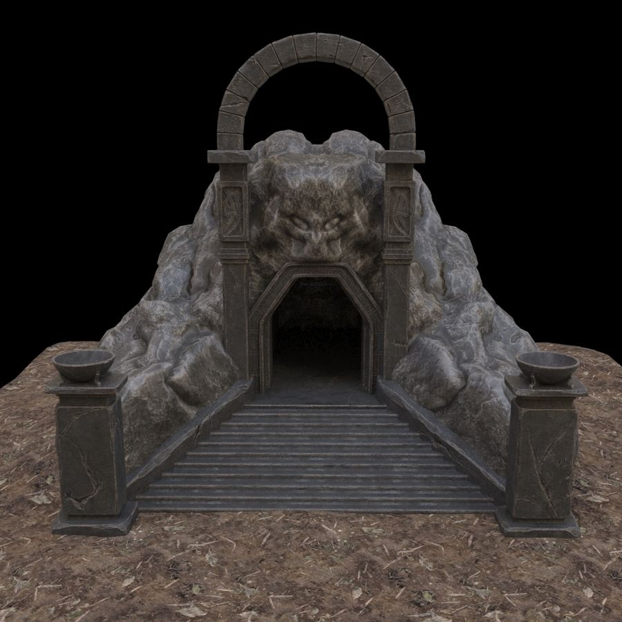 Cave-ingång royalty-free 3d model - Preview no. 9