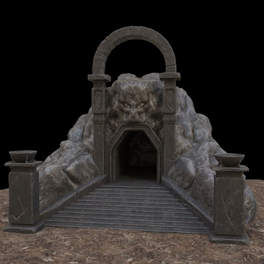 Cave-ingång royalty-free 3d model - Preview no. 1