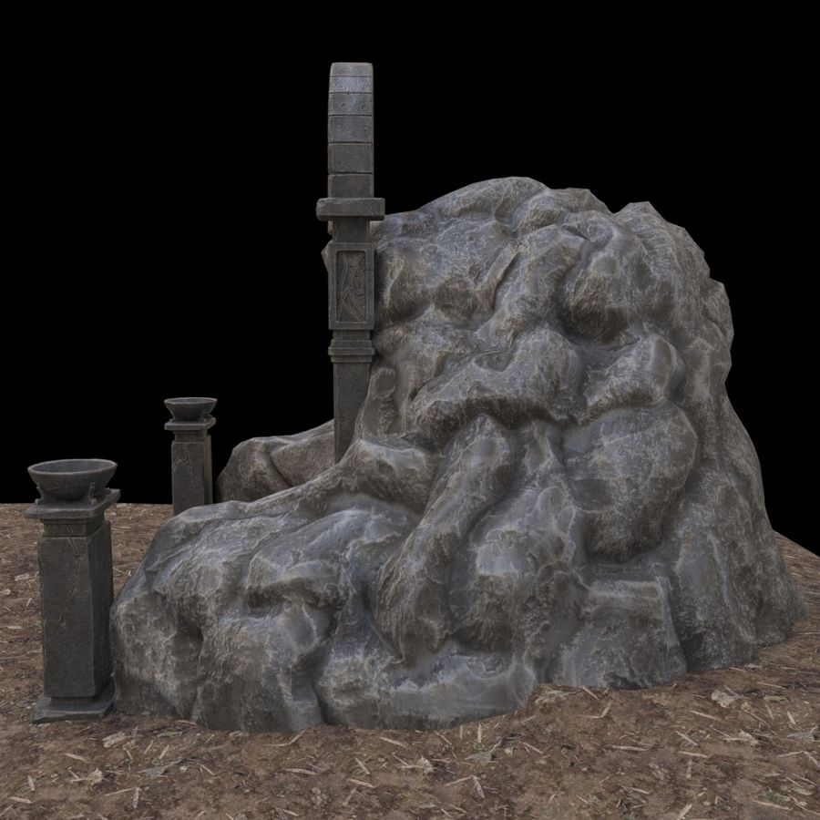 Cave-ingång royalty-free 3d model - Preview no. 3