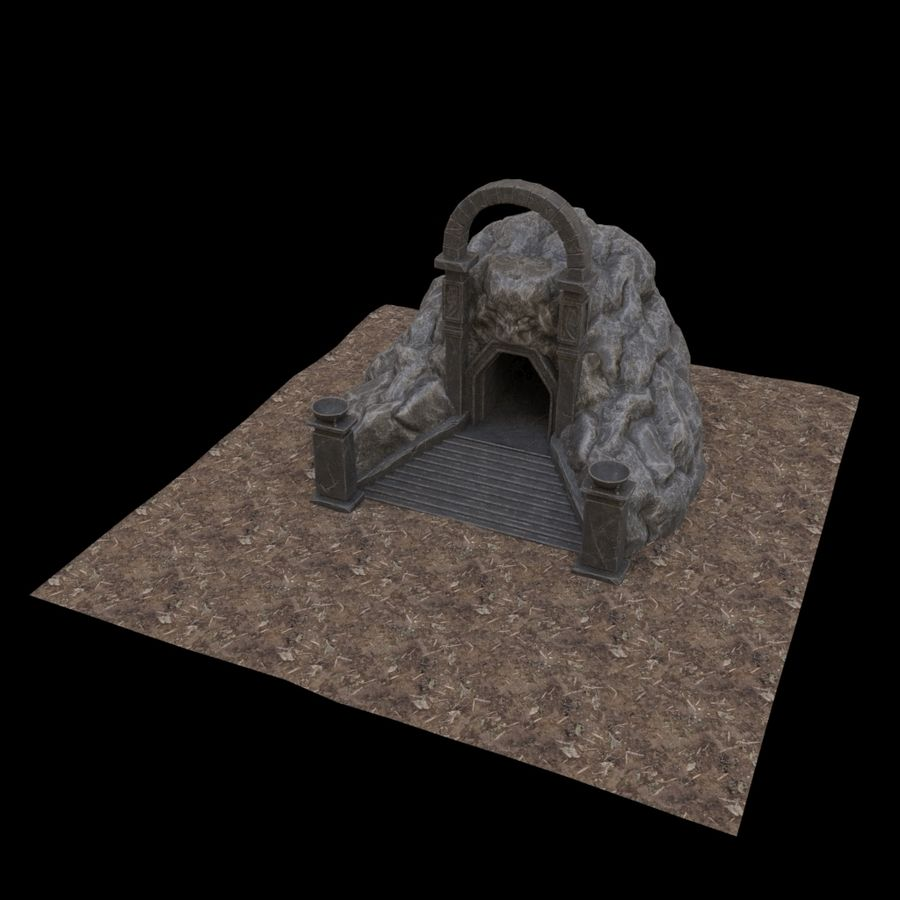 Cave-ingång royalty-free 3d model - Preview no. 8