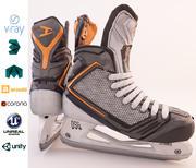Metal and Plastic Hockey Ice Skate 3d model