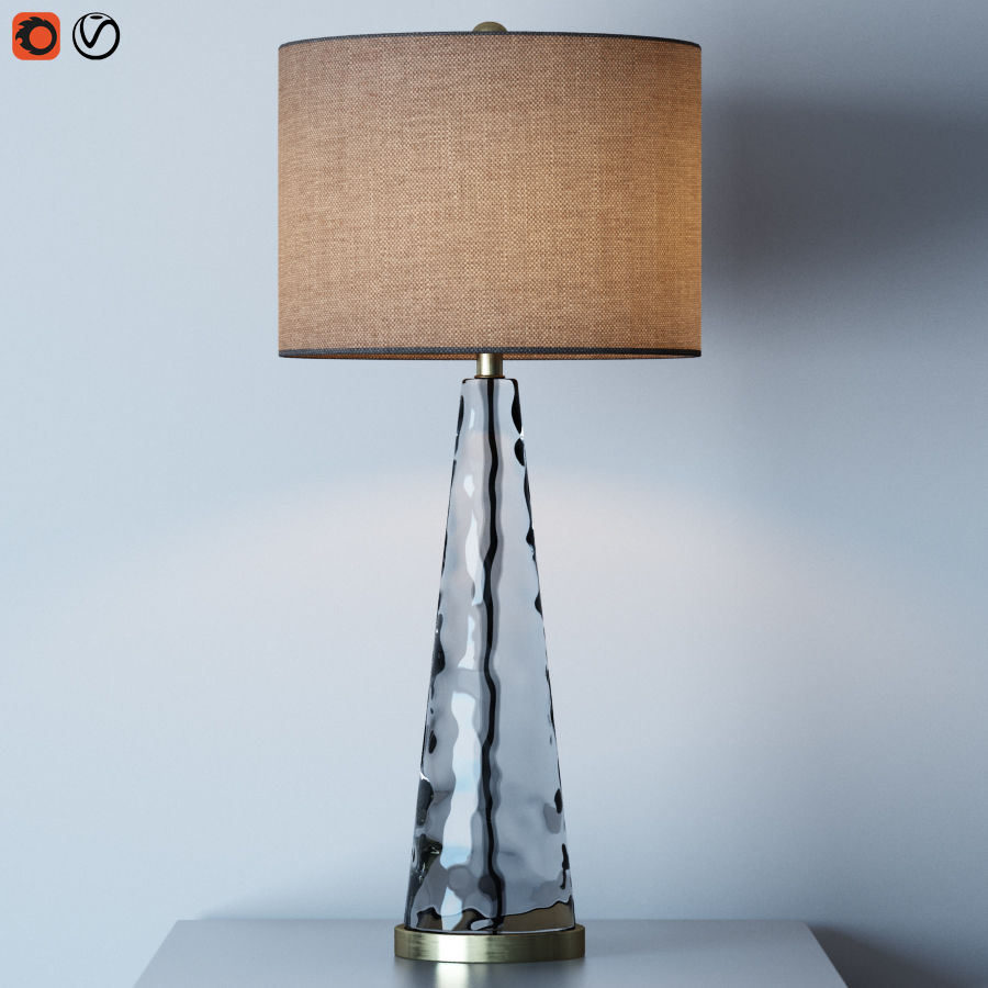Hydra table lamp royalty-free 3d model - Preview no. 1