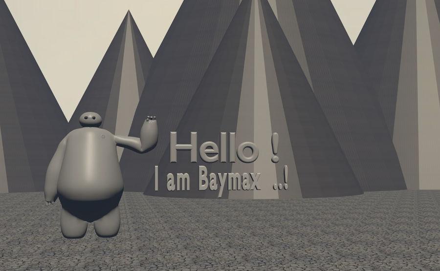 Robotic Character Baymax Lookalike royalty-free 3d model - Preview no. 4