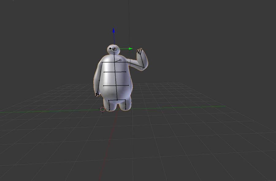 Robotic Character Baymax Lookalike royalty-free 3d model - Preview no. 5