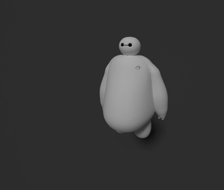 Robotic Character Baymax Lookalike royalty-free 3d model - Preview no. 1