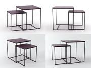Cube tables 3d model
