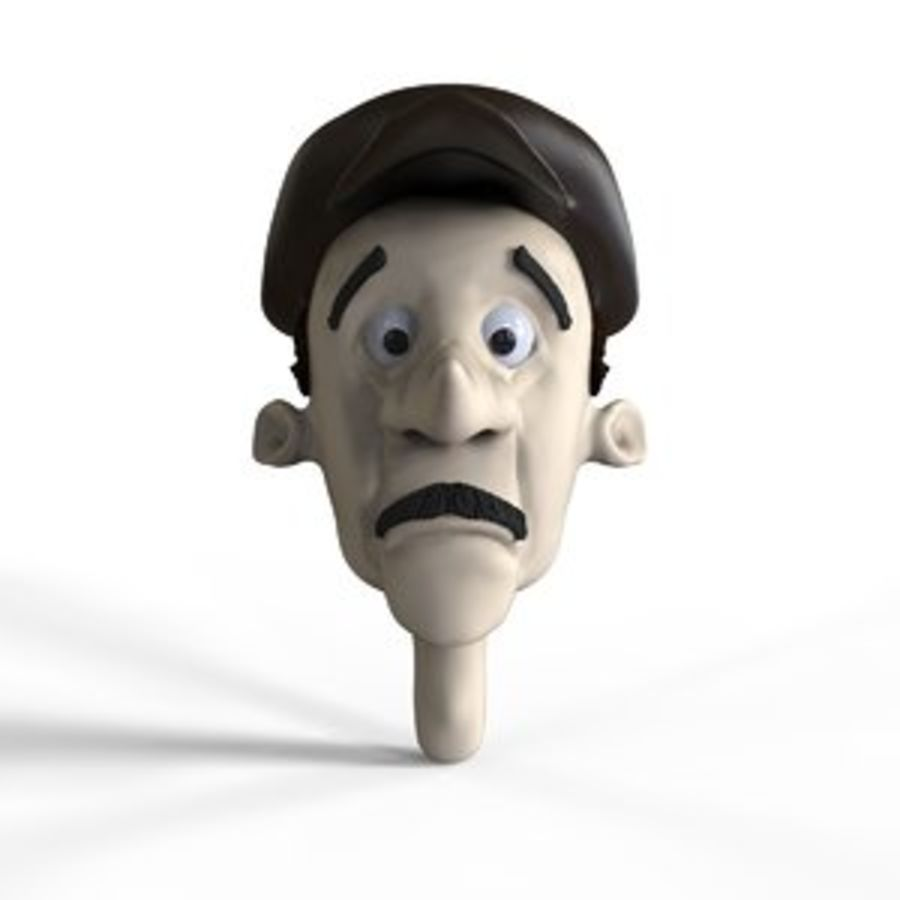 Old man character head royalty-free 3d model - Preview no. 1