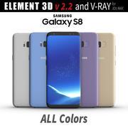 Samsung Galaxy S8 Element 3D ve V-ray için Tüm Renkler 3d model