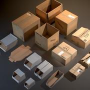 Scatole di cartone - Oggetti di scena pronti per il gioco 3d model