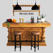 Pottery barn, Banks Bar 3d model