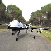 Raptor Unmanned Drone 3ds and obj 3d model
