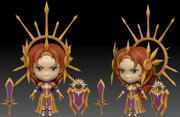 Leona lol chibi 3d model