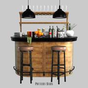 陶仓劳伦斯·德米伦酒吧柜 3d model