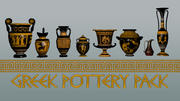 Ancient Greek Pottery Game Pack 3d model