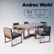 Stół i krzesła Andreu World 3d model