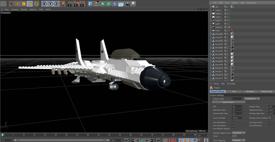 Modelo 3D de Lego Jet Plane royalty-free modelo 3d - Preview no. 3