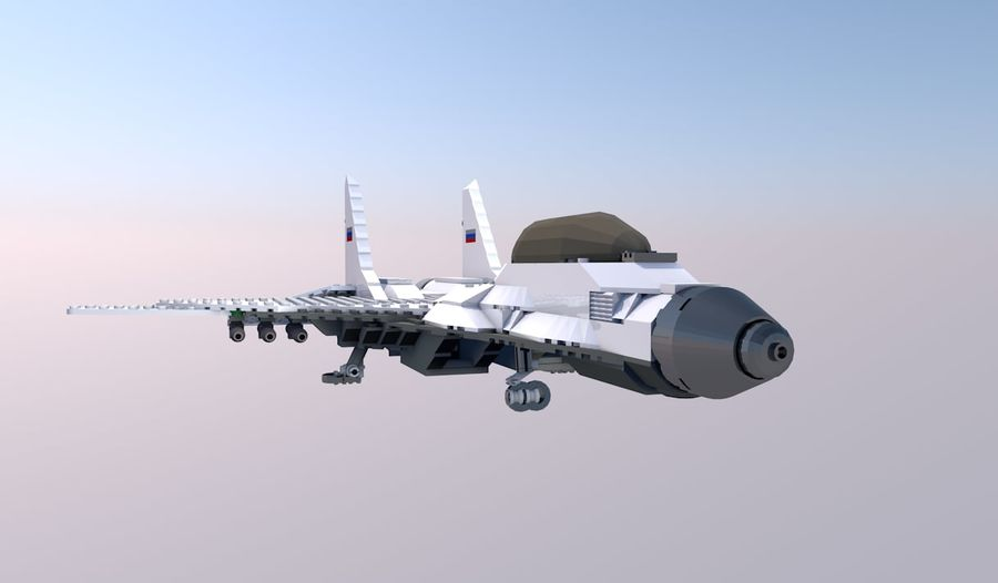Modelo 3D de Lego Jet Plane royalty-free modelo 3d - Preview no. 1