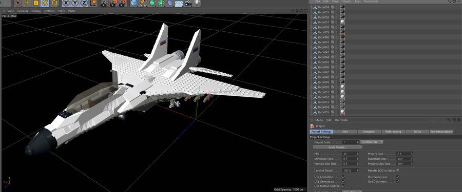 Modelo 3D de Lego Jet Plane royalty-free modelo 3d - Preview no. 5